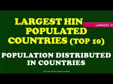 TOP 10  LARGEST HINDU POPULATIONS IN COUNTRIES