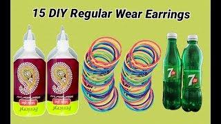 15 DIY Regular Wear Earrings Making at home