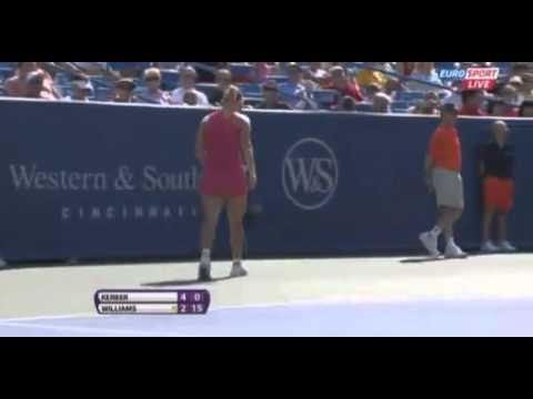 Angelique Kerber vs Serena Williams 6-4 Quarter Finals Masters Cincinnati 17 08 2012