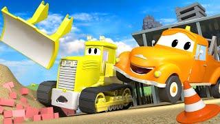 Xe tải kéo cho trẻ em - Lưỡi xúc bị rơi - Thành phố xe 🚗 những bộ phim hoạt hình về