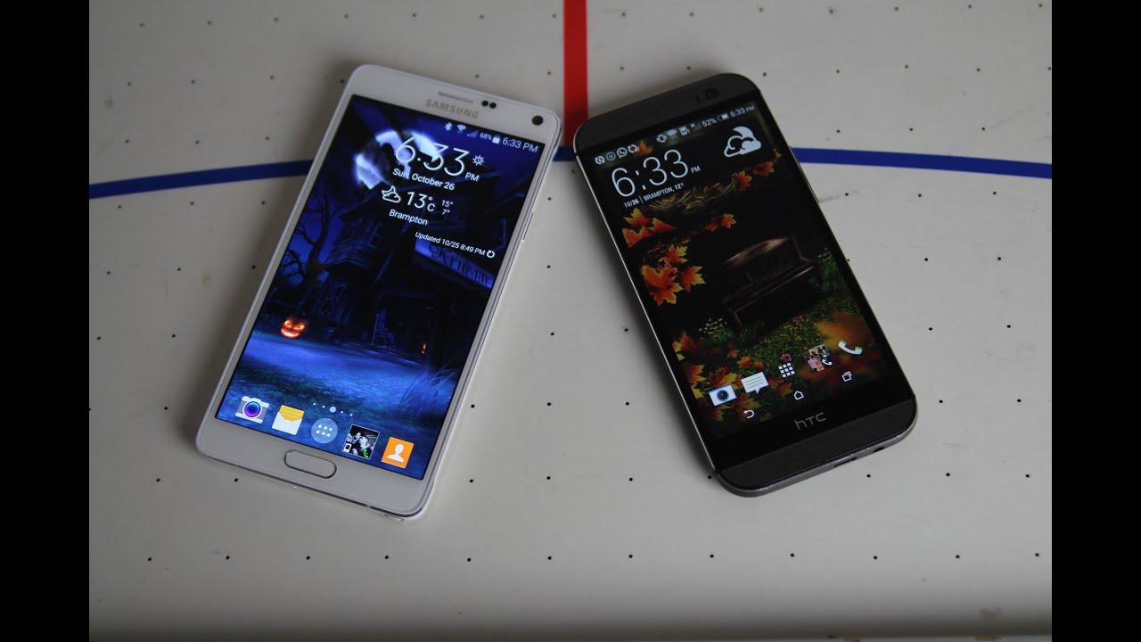 Samsung Galaxy Note 4 vs Htc