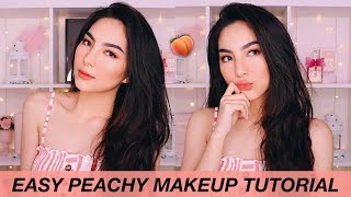 FOCALLURE ONE BRAND - EASY PEACHY MAKEUP TUTORIAL 🍑(SHINCAN DOES MY VOICEOVER?!)