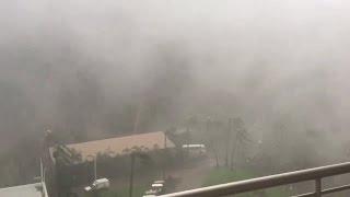 WATCH: Sudden burst as Cyclone Debbie hits Australian hotel