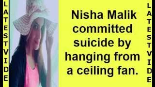 actress and model  pakistani Nisha Malik commits suicide