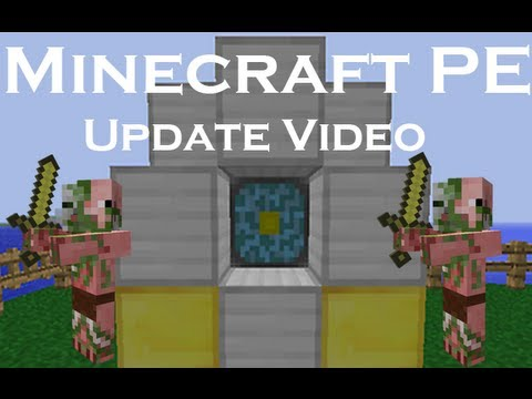 Minecraft pe update zombie pigman work in progress block