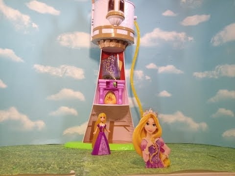 Rapunzel Magical Tower A Disney Tangled Movie Rapunzel Toy Review video