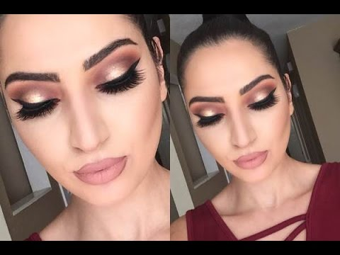 Holiday Look: Thanksgiving Makeup Tutorial   Cranberry & Gold