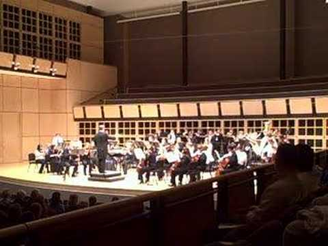 The Elkhart County Symphony Youth Honors Orchestra performs a Symphonic Suite of Lord of the Rings music composed by Howard Shore. Brian Wiebe conducting. The performance was on May 12,...