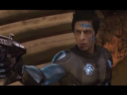 Shahrukh In A Battle With Arjun - Ra.one video