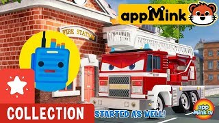 #appMink Fruit Train | Wheels On The Bus Go Round And Round | Police Helicopter