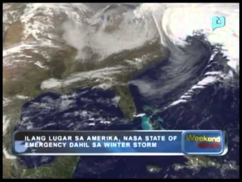 Globalita: Ilang lugar sa Amerika, nasa 'State of Emergency' dahil sa 'winter storm'