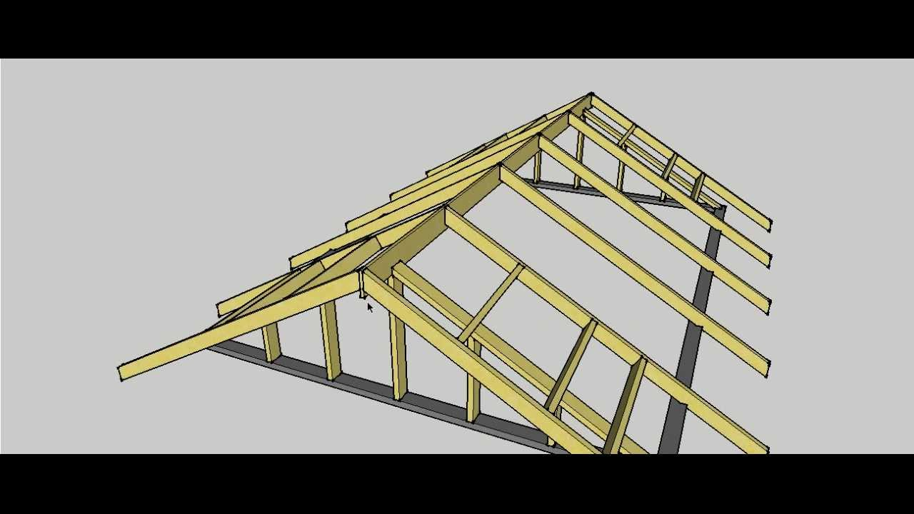 Gable Roof Erection Procedure Youtube