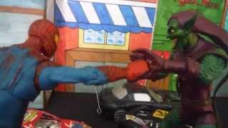 Spiderman vs Green goblin stop motion (Spiderman vs El Duende Verde)
