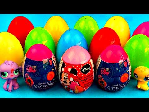 Littlest Pet Shop Surprise Eggs LPS Minnie Mouse Peppa Pig Cars 2 My Little Pony Toys FluffyJet