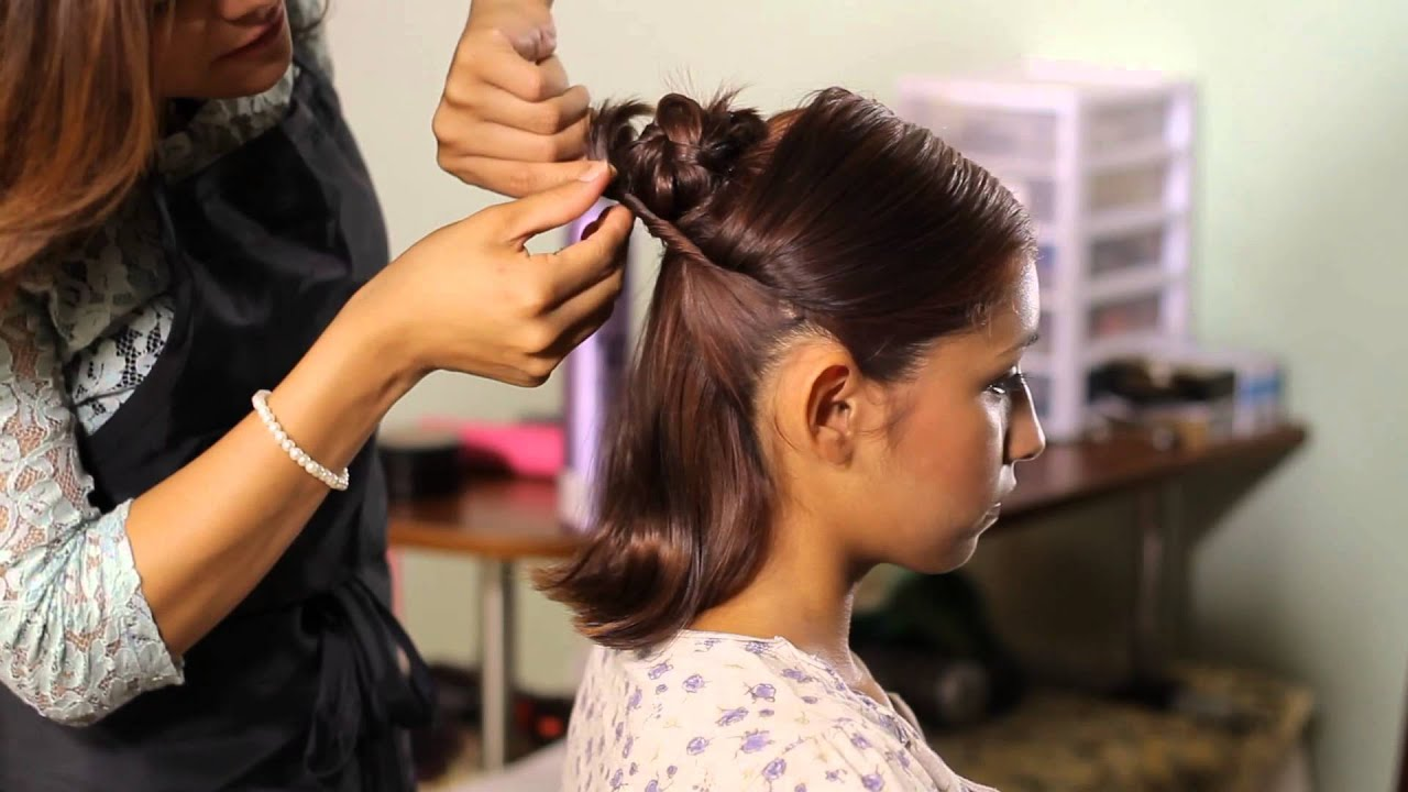 How To Make A Bun With Short Hair Tress To Impress Youtube