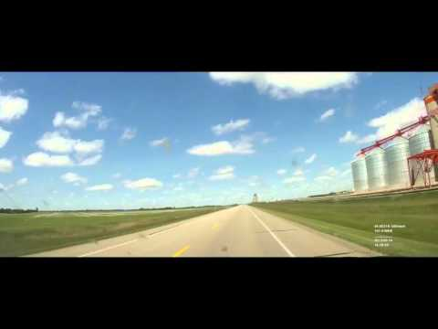 Chicago to Alaska - Day 3 - Minot to Calgary Sped Up 25X