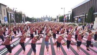 evento Free Yoga by Oysho Barcelona 2015