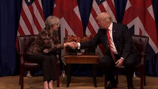 Trump Meets With UK's May on Trade, Security