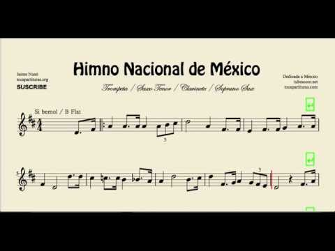 Mexico National Anthem Sheet Music For Trumpet Tenor Saxophone Clarinet And Soprano Saxophone video