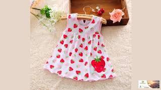 Baby Girl Dress Cotton Regular Sleeveless A-Line Dresses Clothing Minin Princess Many Colors  0-24 M
