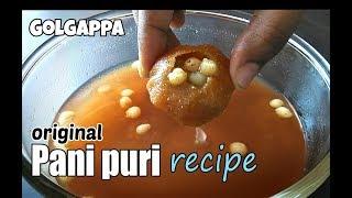 Original Pani puri recipe   पानीपूरी बनाने के सारे राज और ट्रिक्स   Golgappa