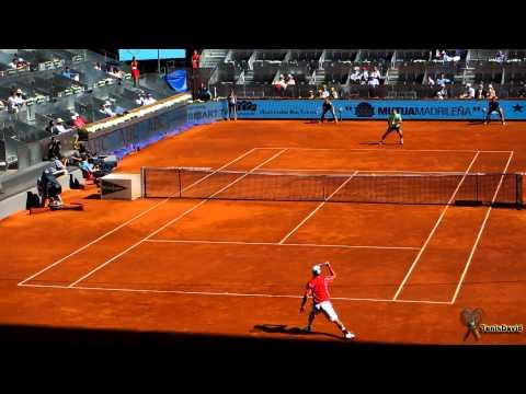 Nishikori vs Federer - Madrid Masters 1000 2013