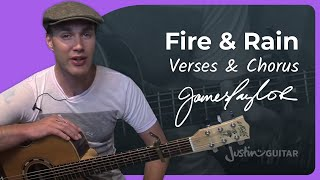 Fire And Rain - James Taylor #2of2 (Songs Guitar Lesson ST-624) How to play
