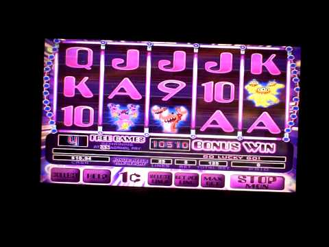 Lucky Mon slot machine bonus win at Parx Casino