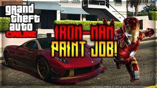 """GTA 5 Online Paint Jobs - Best Rare Paint Jobs Online """"Iron Man!"""""""