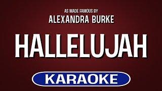 Hallelujah Karaoke Version Alexandra Burke Tracksplanet