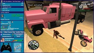 GTA San Andreas - Viewers Control The Cheats During Speedrun! - Hugo_One Twitch Stream - 2/16/2019