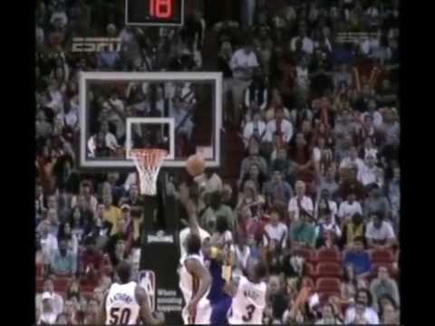 Kobe Bryant Blocked by Udonis Haslem 19 12 08 OWNED!