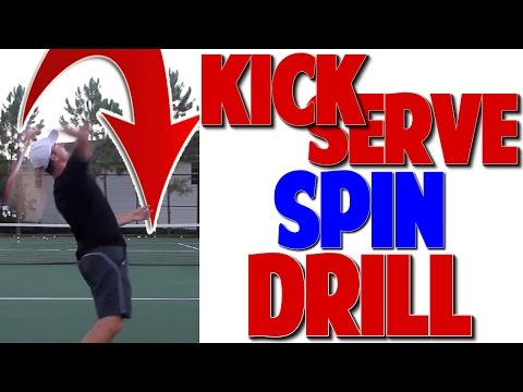 How to Get Your Kick Serve to Drop Like a Boomerang! (Top Speed Tennis)