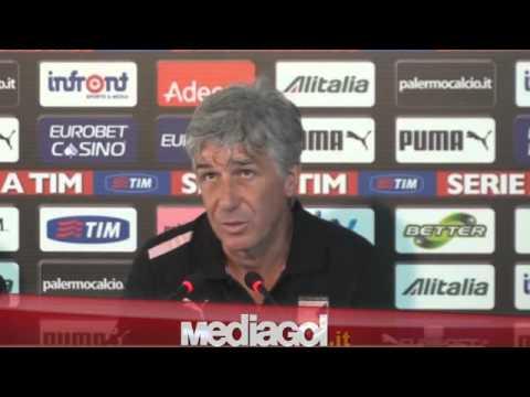 Gian Piero Gasperini in conferenza stampa vigilia Genoa-Palermo - 05/10/2012 - Mediagol.it