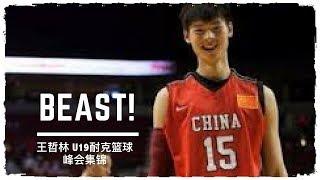 [历史经典]两连血帽!18岁王哲林耐克篮球峰会19分8板vs美国队集锦 18.1.8