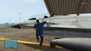 GTA V - How To Steal The P-996 LAZER Fighter Jet From Secret Military Airbase - 1080p