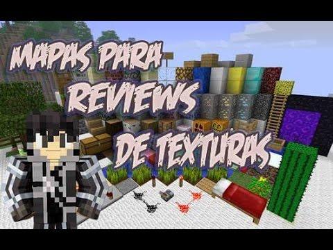 Top 3 Melhores Mapas Para Reviews(Demonstração) De Texturas para Minecraft PE - 0.11.0