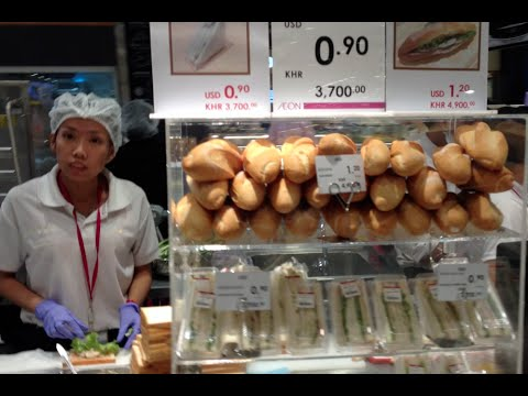 Food Court at Aeon Mall in Phnom Penh Cambodia | Japanese Mall and Foods in Phnom Penh city