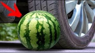 ✅ EXPERIMENT: CAR VS WATERMELON in SLOW MO