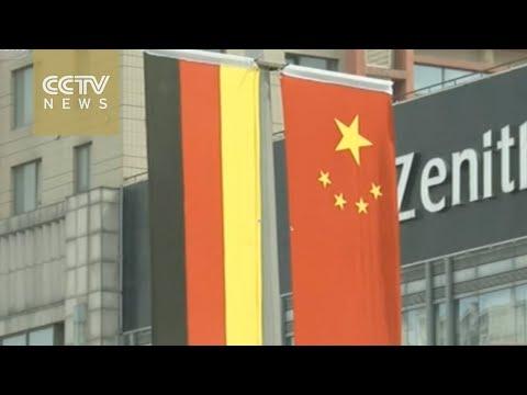 German Chancellor Angela Merkel arrives in Shenyang