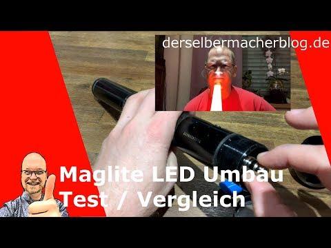 Maglite LED Umbau Test und Vergleich vs ALDI und China Lampe