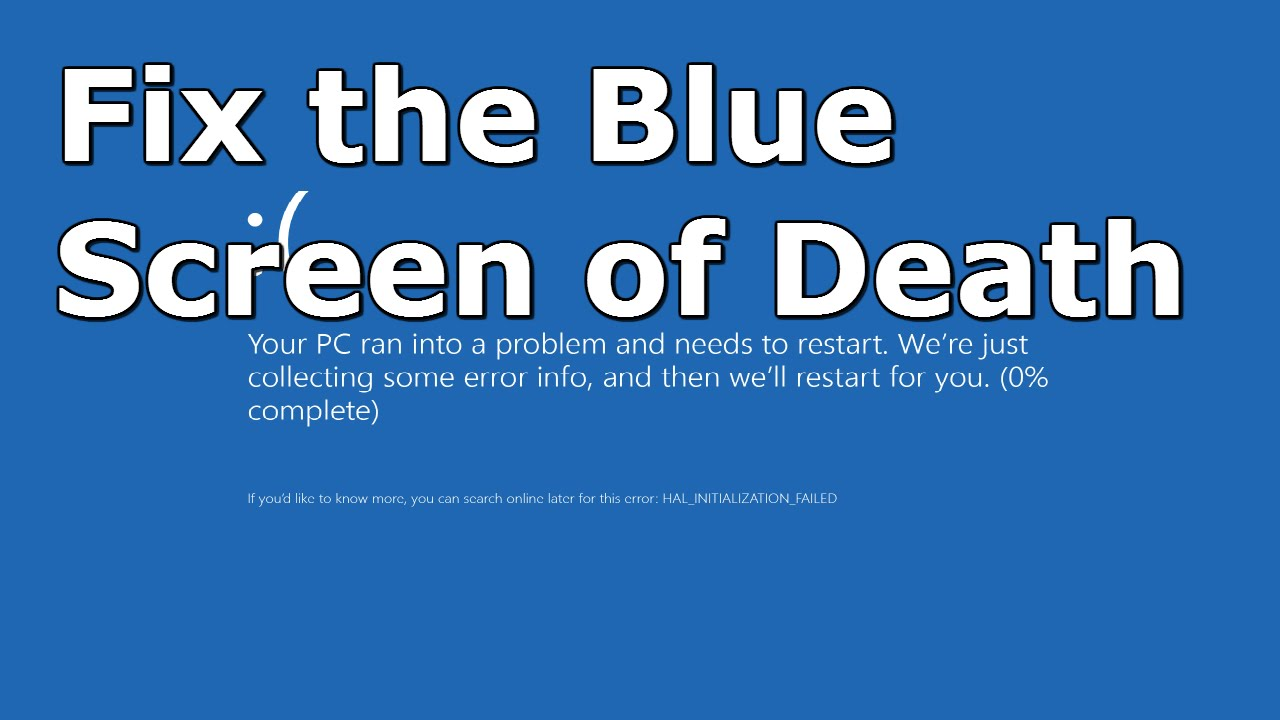 How To Fix Windows 10 Blue Screen Of Death Common Cures