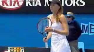 Daniela Hantuchova vs Virginia Ruano Pascual - Australian Open 2008 - Last Games