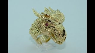 Dragon handmade 18KT gold ring