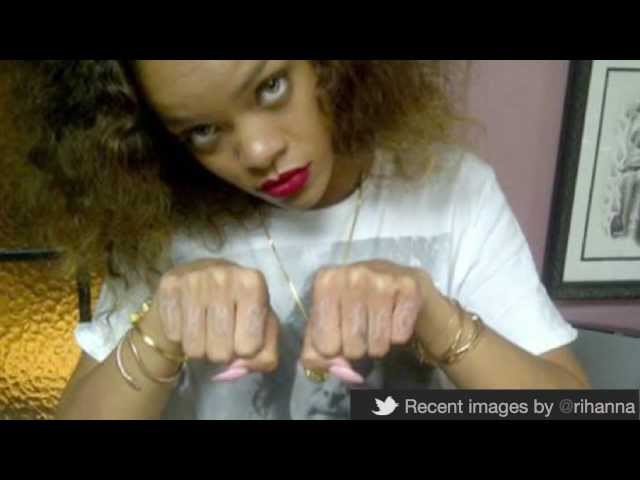 Rihanna Thug Life Tattoo Rihanna Shows Off Thug Life