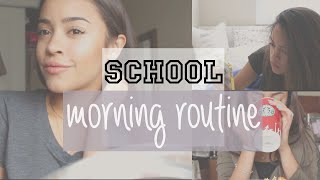 MY SCHOOL MORNING ROUTINE + SIMPLE MAKEUP FOR SCHOOL! | Maria Bethany
