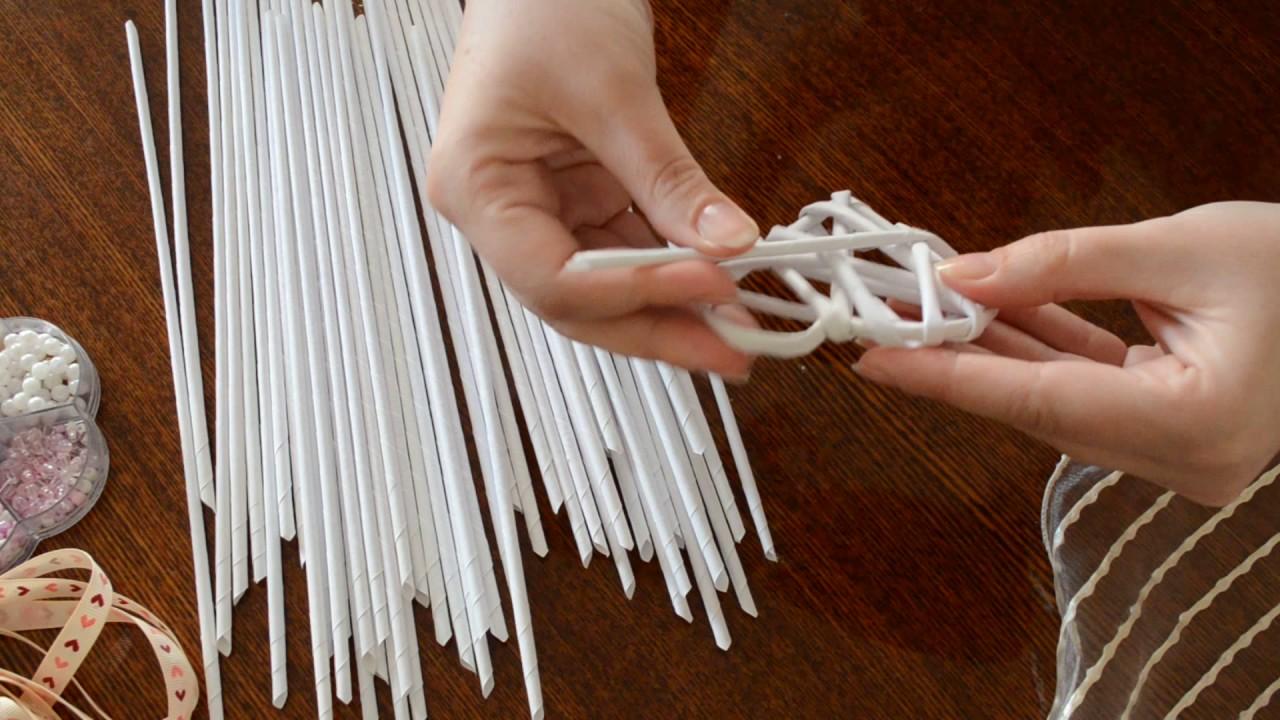 Плетение бумагой мастер класс видео