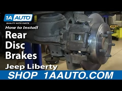 How To Install Replace Rear Disc Brakes 2002-07 Jeep Liberty