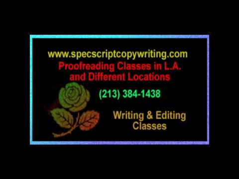 Proofreading classes and writing courses in Los Angeles - Work from  home jobs
