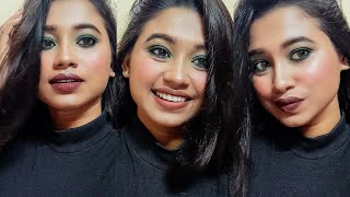 Green Smokey Eye Look With Two Lip Options | Poushalimimiroy